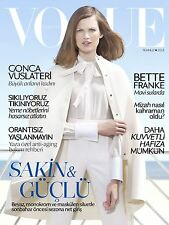 Vogue TURKEY July 2013, Bette Franke, Gonca Vuslateri SEALED