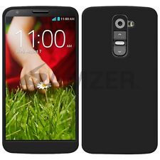 Amzer Premium Soft Gel Silicone Skin Fit Jelly Case Cover For LG G2 D802 - Black