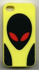 iPhone 4 4G 4S- Alien Soft Silicone Case - Yellow and Black
