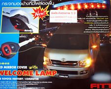 CHROME MIRROR COVER LED WELCOME LAMP For TOYOTA HIACE COMMUTER 2008 - 2015