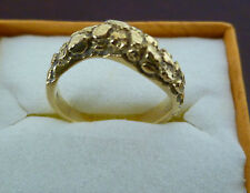 "Lady's ring, solid gold ""nugget"" style 14k yellow gold . Size  7"
