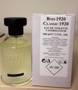 Bois 1920 CLASSIC 1920 3.4 oz / 100 ml Unisex Eau De Toilette Spray-New-Unboxed