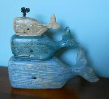 Whale Nautical Tabletop Decor Paperweight Kitchen Bathroom Office