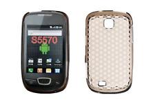 Housse Etui Coque Silicone Gel Noir Diamand ~ Samsung GT S5570 Galaxy Mini