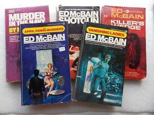 Lot of 5 Ed McBain 87th Precinct Novels: Shotgun + Murder in Navy + Killer's Wed