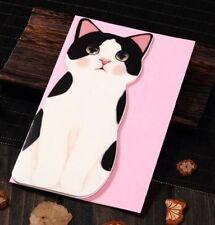 Holiday Greeting Cards Korea Cats B Message Memo Card X'mas Gift 1pc ☆