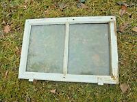 Altes Fenster Holz Sprossenfenster Rahmen Bilderrahmen Biedermeier 50 x 34 x 3 c
