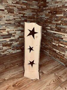 Rindendeko Schild mit Sterne