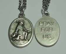 St Rocco Roch Rock Holy Medal on Chain - Patron Saints of Dogs & Knee Problems