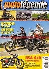MOTO LEGENDE 270 HONDA CX 650 SUZUKI GS YAMAHA 125 YA1 BSA A10 DUCATI Scrambler