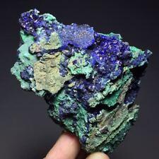 212g Natural Glittering Azurite Malachite Geode Mineral Specimens/in Anhui China