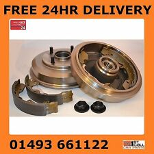 Ford Focus MK1 Rear Brake Drums Wheel Bearings Fitted And Shoes 1998-2004 NO ABS