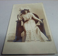 Miss Mabel love Edwardian actress real photo posted1904