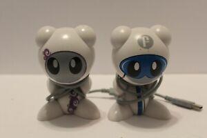 LOT of 2 UB Funkeys Figure USB Docks White & Purple & White & Blue Smoke Free