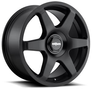 "18"" Rotiform Six Alloy Wheels Matt Black 5x112 fits VW Golf   Scirocco   Passat"