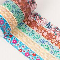 5x Rollen Blumen Washi Tape Set Pflanze DIY Scrapbooking Masking Sticker Dekor