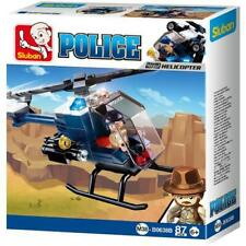 New Sluban Kids 87 Pcs Building Toy Police Helicopter Building Blocks for Kids