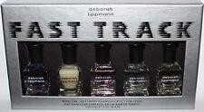5 Pc Deborah Lippmann FAST TRACK  Manicure Treatment Essentials Set .27 oz Ea **