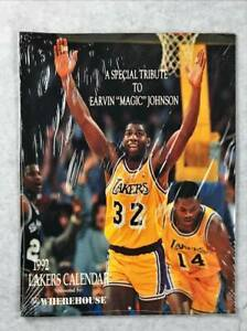 """1992 LAKERS Calendar A Special Tribute to Ervin """"Magic"""" Johnson, New Sealed"""