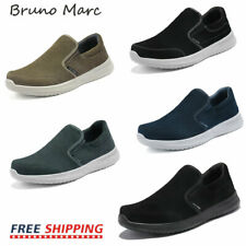 Bruno Marc Mens Casual Shoes Suede Leather Slip on Walking Shoes Fashion Sneaker