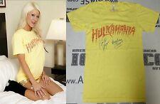 Hulk Hogan Angelina Love Signed Event Worn Used TNA Hulkamania Shirt PSA/DNA WWE
