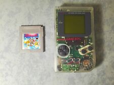 CONSOLE NINTENDO GAME BOY DMG PRIMO MODELLO TRASPARENTE CLEAR + SUPER MARIO LAND