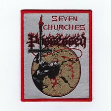 "Possessed ""Seven Churches"" Patch death-slayer-morbid saint-venom-sodom-sarcofago"