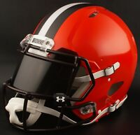 ***CUSTOM*** CLEVELAND BROWNS Full Size NFL Riddell SPEED Football Helmet