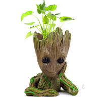 Guardians of The Galaxy Baby Groot Tree Man Figure Flowerpot Pen Pot Gift