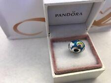 "Pandora "" Iridescent Rainbow "" S925ale Murano Glass Charm  # 797013 *214*"