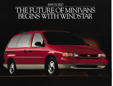 1995 Ford Windstar One Page Specs Sheet Brochure - LX and GL