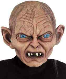 Gollum Mask Lord of the Rings Hobbit Dress Up Halloween Adult Costume Accessory