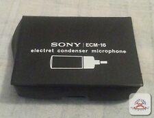Sony ECM-16 electret condenser microphone 3.5mm connector....(C16B2)