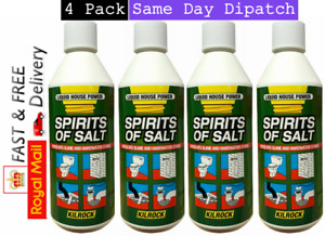 Spirit of Salt Heavy Duty Unblocks drains pipes toilets Brick Stain Remove 4PacK