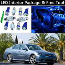 11PCS Bulbs Blue LED Interior Car Lights Package kit Fit Infiniti M35/M37/M45 J1