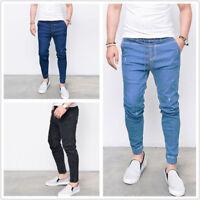 NEW Mens Skinny Slim Biker Pants Distressed Ripped Denim Casual Trousers Jeans
