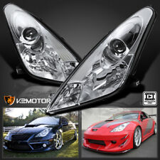 2000-2005 Toyota Celica Chrome Clear Projector Headlights Replacement Left+Right