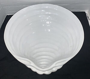 """Pottery Barn CLAMSHELL shaped 14"""" Serving Platter Bowl CLAM OYSTER Shell Excelnt"""