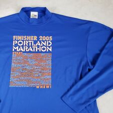 🏃 Portland Marathon FINISHER Technical T-shirt L/S Running Sz Large Collector