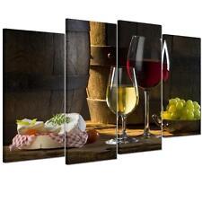 4pcs/set Canvas Prints Home Decor Wall Art Painting Picture-Wine Fruit Unframed