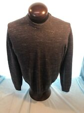 Mens BILLY REID ITALY Crew Neck LS Gray L Large Pullover Wool Sweater