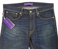 $500 Ralph Lauren Purple Label Blue Straight Jeans Size 38 Made in Italy