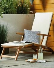 Brand New - Wooden Sun Lounger. Foldable with Cushion Cover. Next Day Delivery
