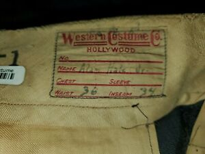 Gilligan's Island Star Alan Hale Jr. Western Costume Film Used Pants The Skipper