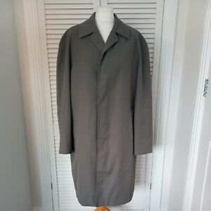 Vintage mens trench coat Dunn & Co Rain Mac crombie check lining large