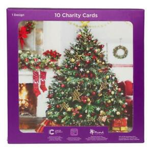 WHSmith Fireside Charity Christmas Cards Pack of 10
