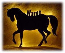 Deko Lampe Pferd Pferde Lampe Pferdelampe mit Namen für Mädchen Kind Kinder