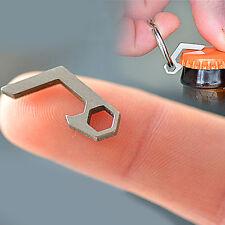 Beer Bottle Can Opener Stainless Steel Metal Portable Key Ring Hiking Camping