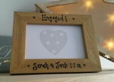 Wooden Engagement Rectangle Photo & Picture Frames
