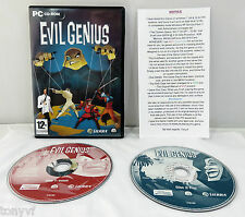 Evil Genius (PC: Windows, 2004) Windows 98SE/2000/XP - no manual